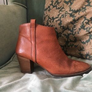 MADEWELL Cognac Leather Boots